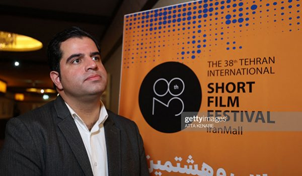 Sadegh Moussavi, President of the Tehran International Short Film Festival (TISFF), speaks to AFP during the opening day of the 38th edition of the TISFF in the Iranian capital on October 19, 2021 . - Tehran's International Short Film Festival opened this week, for the first time as an Oscar-qualifying event, giving winning entries a shot at an Academy Award. (Photo by ATTA KENARE / AFP) (Photo by ATTA KENARE/AFP via Getty Images)